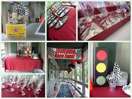 Home Made Party Decorations One Of My Favorites Lots Of Doable Decorations Race Car Theme