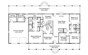 4 bedroom one story house plans rectangle house plans ranch style house plan 2 beds baths sq ft