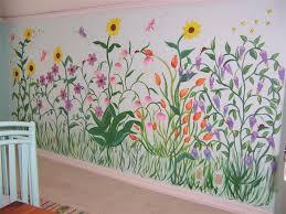Garden Wall Paint Ideas Flower Garden Mural For The Home Pinterest Wall Murals