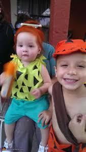 Pebbles Bam Bam Halloween Costume Flintstones Wilma Pebbles Bam Bam Costumes Photo 4 5