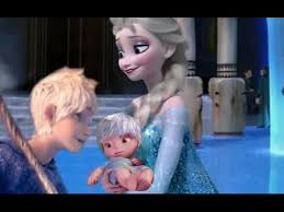 elsa and jack frost have a baby disney frozen couple youtube