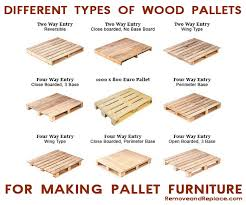 here are the many types of wooden pallets to make the best diy