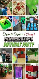 minecraft birthday party how to host a cheap minecraft birthday party with printables