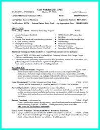 pharmacy technician resume template what objectives to mention in certified pharmacy technician