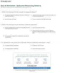 quiz u0026 worksheet deductive reasoning patterns study com