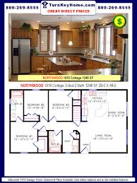 4 Bedroom Modular Home Prices by Northwood 1916 3 Bed 2 Bath Cottage Plan 1248 Sf Wisconsin