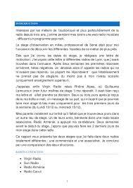 rapport de stage 3eme cuisine rapport de stage de 3e radio radio arménie