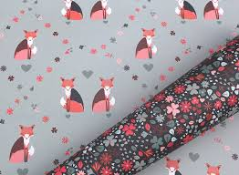 sided christmas wrapping paper sided fox floral wrapping paper pack by the chalk lion