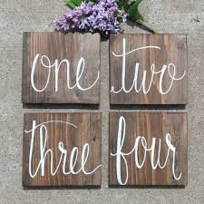 table numbers wedding rustic table numbers wedding table from hollowcreekprims on etsy