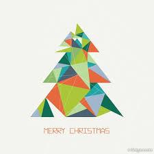 4 designer origami christmas tree vector material effect