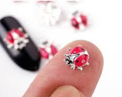 ladybug nail art etsy