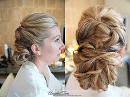 professional makeup and hair stylist wedding hair low chinon bun angela tam