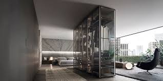 Free Standing Storage Building by Rimadesio Sliding Systems Living Area Complements Doors Walk