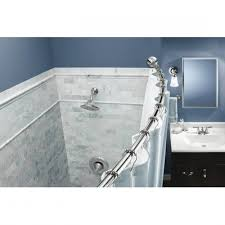 Curved Tension Shower Curtain Rods Hang Two Shower Curtain Rods In The Shower One For The Shower