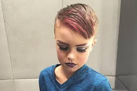 12 year old boy with long hair from book infestation this 8 year old asked for a makeup lesson for christmas and owned it