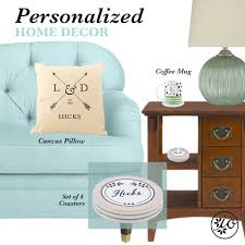 personalized home decor right at home initial outfitters