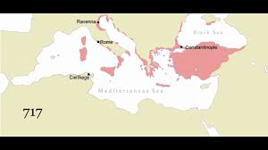 Byzantine Empire Map History Of The Mediterranean Fall Of The Roman Empire And