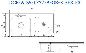 Sinks Interesting Ada Kitchen Sink Adakitchensinkfarmhouse - Ada kitchen sink requirements