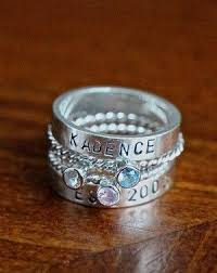 stackable engraved mothers rings best 25 stackable name rings ideas on name rings