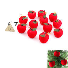 amazon com 12 pcs christmas red apples christmas tree hanging