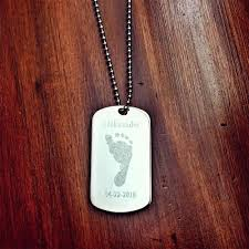 engravable dog tags men s stainless steel dog tag pendant w extension engravable