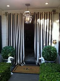 Black White Stripe Curtain Living Room Patio Curtains Stripe Black And White Striped Living