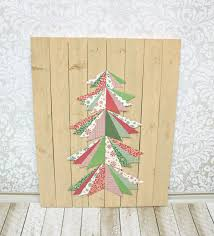 wooden pine tree wall paper pieced tree wall tutorial