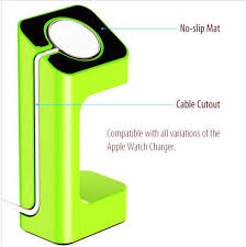 apple watch green light goosuu charger dock holder watch band mount stand for apple watch