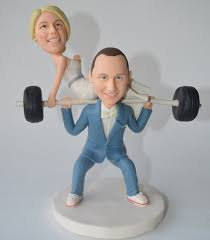 weight lifting cake topper unique wedding cake topper personalized toppers