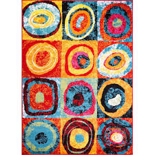 3 X 4 Area Rug Home Dynamix Splash Collection 648 Multi Colored Circles 19 6