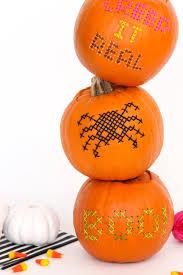halloween diy cross stitch pumpkins u2013 design sponge
