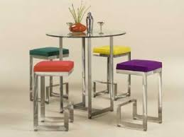 Glass Bar Table Glass Pub Table Sets Glass Bar Tables And Stools Dinette