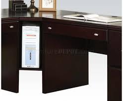 Espresso Corner Computer Desk by Finish Cape Modern Desk W Options By Acme