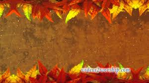 thanksgiving worship motion background leaves and dust
