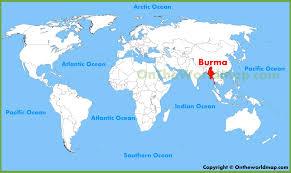 Flag Of Burma Where Is Myanmar Where Is Myanmar Located In The World Burma