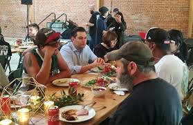 san jose leaders early thanksgiving meal with homeless