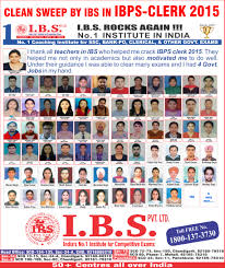 ibs top coaching institute for banking po clerk u0026 ssc classes