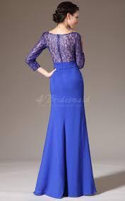 new lace royal blue prom dresses long sheath chiffon and lace