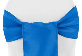 teal chair sashes polyester chair sash tie royal blue cv linens
