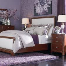 Light Purple Bedroom Night Lamp On Nightstand Plus White Dresser Light Purple Bedroom