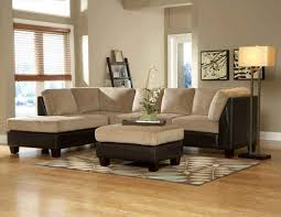 Sectional Sofa Living Room Ideas Living Room Royce Two Tone Brown Sectional Sofa Living Room