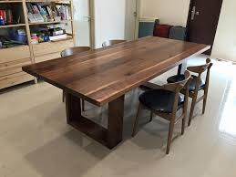 solid walnut dining table solid walnut dining table new fukusu 2 inches thick american timber