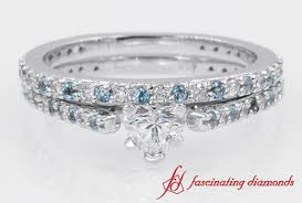 simple wedding ring sets simple design with blue topaz wedding ring set in