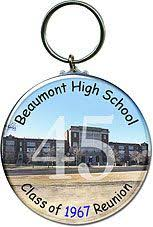 souvenirs for class reunions class reunion favors key chains featuring a picture of your