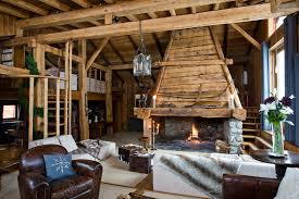 best chic mountain chalet interiors 12858