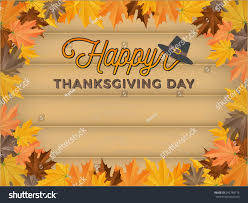 happy thanksgiving day background realistic wood stock vector