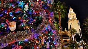 christmas tree lighting buena vista street disneyland resort