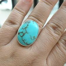 gemstone rings silver images Buy turquoise rings artisan ring gemstone sterling silver ring jpg