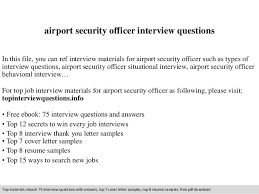 airport security officer interview questions