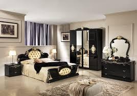 chambre complete adulte chambre complète laqué noir or chambre baroque pas cher